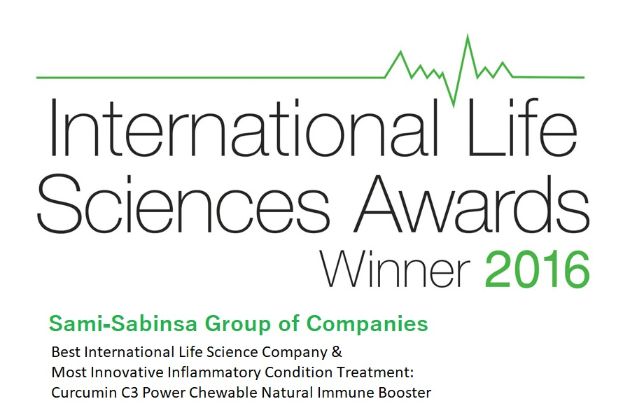 Best International Life Science Company and Most Innovative Inflammatory Condition Treatment: Curcumin C3 Power Chewable Natural Immune Booster